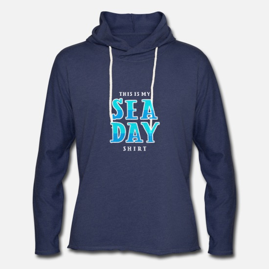Cruise Hoodies & Sweatshirts - Sea day boating ship boat cruising cruise ship - Unisex Lightweight Terry Hoodie heather navy