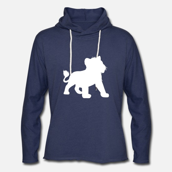 Movie Hoodies & Sweatshirts - Lion King - Dad & Son Funny Matching - Unisex Lightweight Terry Hoodie heather navy