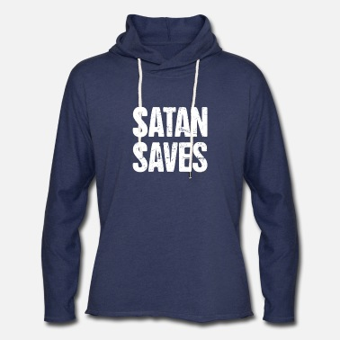 Satan Saves | Funny Occult Satanic - Unisex Lightweight Terry Hoodie