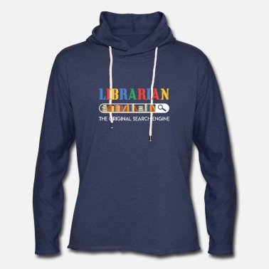 Search Librarian The Original Search Engine T-shirt Book - Unisex Lightweight Terry Hoodie