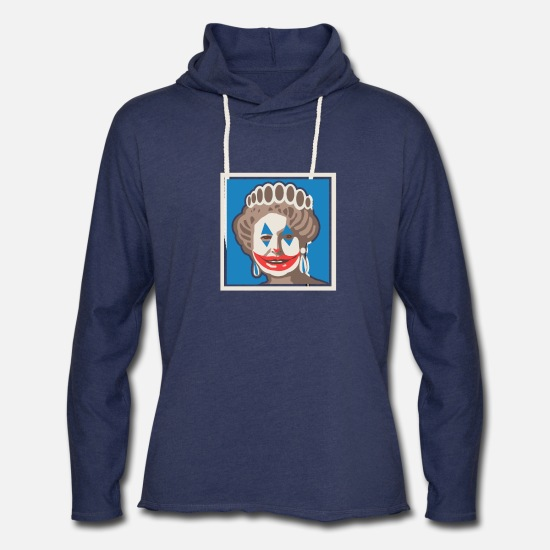 Meme Hoodies & Sweatshirts - Joker Queen England Parody Movie Gift - Unisex Lightweight Terry Hoodie heather navy
