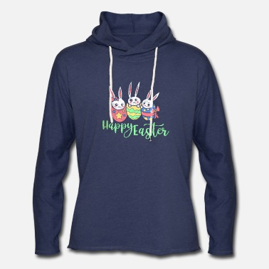 Church Holidays Happy Easter Shirt Christian Holiday Church Bunny - Unisex Lightweight Terry Hoodie