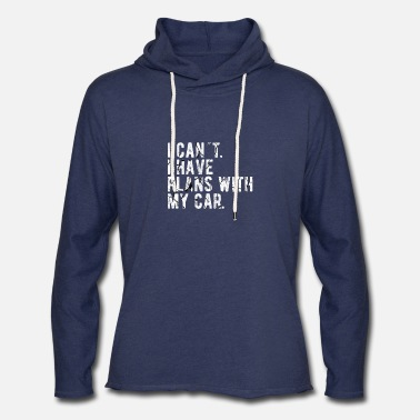 Search CAR ENTHUSIAST : Plans with my Car - Unisex Lightweight Terry Hoodie