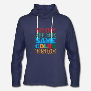 Emancipation Proclamation Juneteenth - We are all the same Color Inside - Unisex Lightweight Terry Hoodie