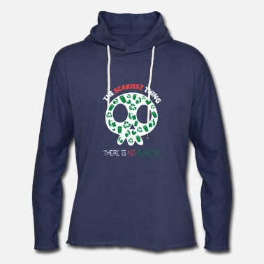 There is no planet b quote skull - Unisex Lightweight Terry Hoodie