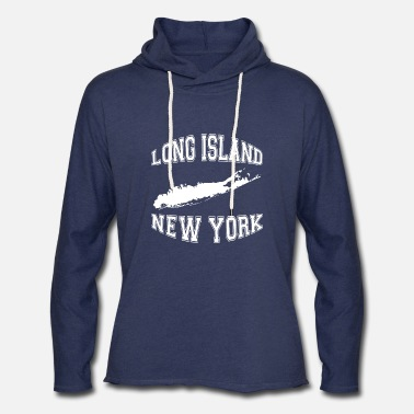 Long long island new york american t shirts - Unisex Lightweight Terry Hoodie