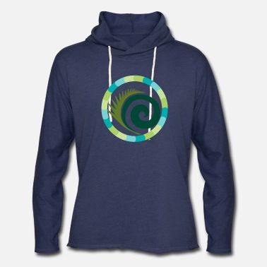 Board Rounded feather in circle - Unisex Lightweight Terry Hoodie