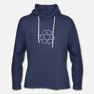Recycle Logo Recycle Logo Design - Unisex Lightweight Terry Hoodie