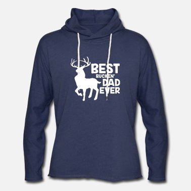 Evil Dead Deer Cute Funny Cartoon Goth Spooky Hum Deer - Best Buckin' Dad Ever for Deer Hunting F - Unisex Lightweight Terry Hoodie