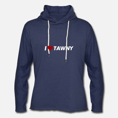 Champagne I love tawny - Unisex Lightweight Terry Hoodie