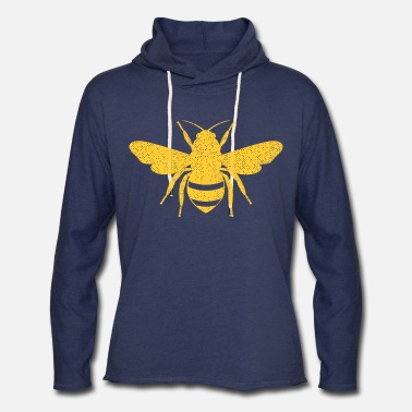 Bee Honey Bee - Beekeeper Flower Honeycomb - Unisex Lightweight Terry Hoodie