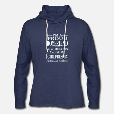 Proud I'm A Proud Boyfriend Of A Freaking Awesome - Unisex Lightweight Terry Hoodie