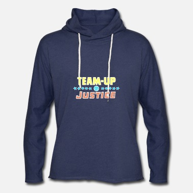 Comics funny team up 4 Justice by Astrona shirt - Unisex Lightweight Terry Hoodie