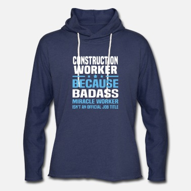 Worker Construction Worker - Unisex Lightweight Terry Hoodie