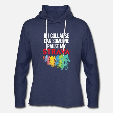 Pause If I Collapse, Can Someone Pause My Strava - Unisex Lightweight Terry Hoodie