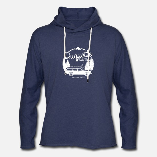Family Reunion Hoodies & Sweatshirts - Duquette Family Vacation 2017 White Ink - Unisex Lightweight Terry Hoodie heather navy