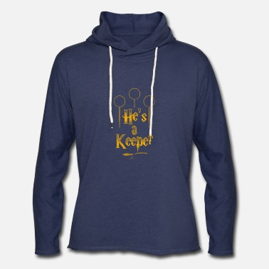 Hes He's a Keeper - Unisex Lightweight Terry Hoodie