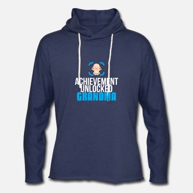Grandmother New Grandmother Gift Achievement Unlocked Grandma - Unisex Lightweight Terry Hoodie