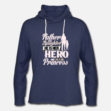 Father and Daughter He is Her Hero She is His Princess Gift on Fathers Day Crewneck Pullover Sweatshirt