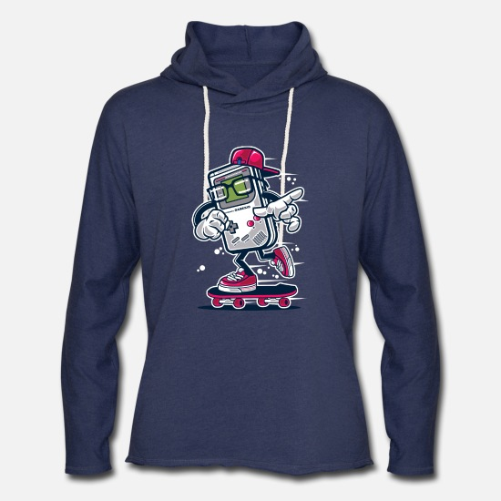 Gaming Hoodies & Sweatshirts - Game Boy Kid - Unisex Lightweight Terry Hoodie heather navy