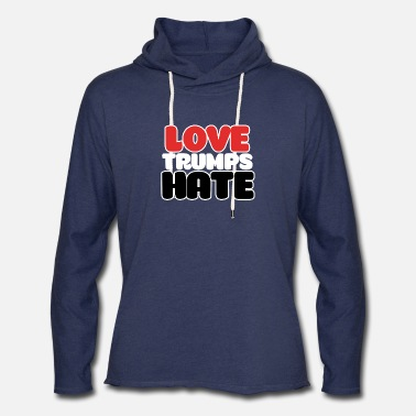 602837-love-trumps-hate - Unisex Lightweight Terry Hoodie