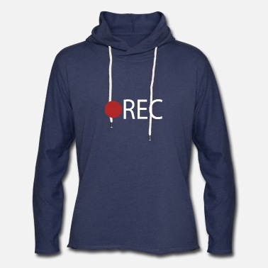 Record REC Record Recording - Unisex Lightweight Terry Hoodie