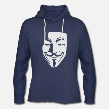 Anonymous guy fawkes - Unisex Lightweight Terry Hoodie
