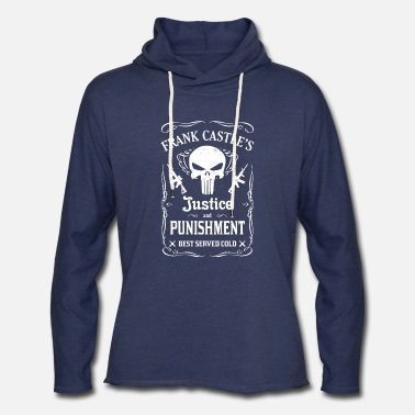 Comics Frank castle's - Justice and punishment best serve - Unisex Lightweight Terry Hoodie