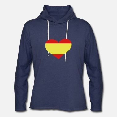Spain Spain Heart; Love Spain - Unisex Lightweight Terry Hoodie