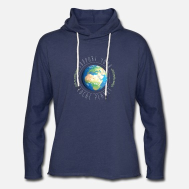 Support Your Local Planet - Unisex Lightweight Terry Hoodie