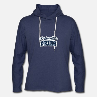 Milwaukee Brewers Milwaukee pride Navy white T - shirt - Unisex Lightweight Terry Hoodie
