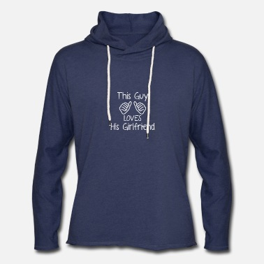 This Guy Loves His Boyfriend This guy loves his girlfriend - Unisex Lightweight Terry Hoodie