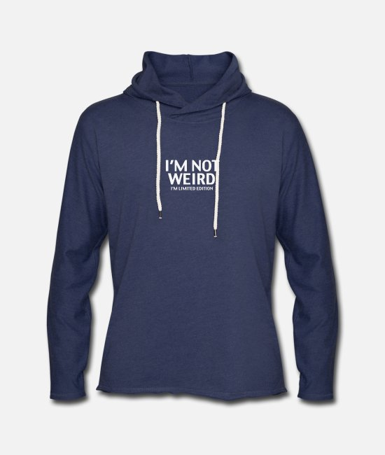 Movie Hoodies & Sweatshirts - I M Limited Edition - Unisex Lightweight Terry Hoodie heather navy