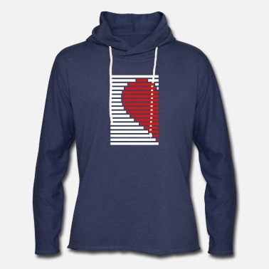 Partner heart partner shirt left - Unisex Lightweight Terry Hoodie