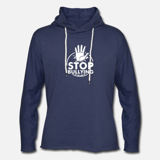 Bullying Hoodies & Sweatshirts - Anti Bullying - Unisex Lightweight Terry Hoodie heather navy