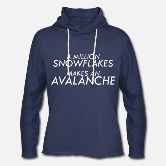 Snowflake Hoodies & Sweatshirts - Liberal Snowflakes - Unisex Lightweight Terry Hoodie heather navy