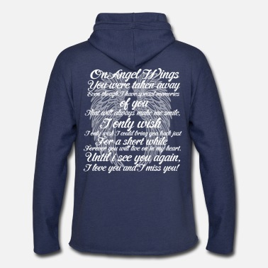 Angel ANGEL WINGS - Unisex Lightweight Terry Hoodie