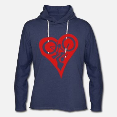 Velolove Bicycle Heart Bike Holdup Single Colour - Unisex Lightweight Terry Hoodie