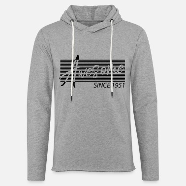 Awesome Since 1951 70 birthday Awesome Since 1951 - Unisex Lightweight Terry Hoodie