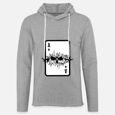 Poker Passion Poker card game Skat poker evening Skull diamond - Unisex Lightweight Terry Hoodie