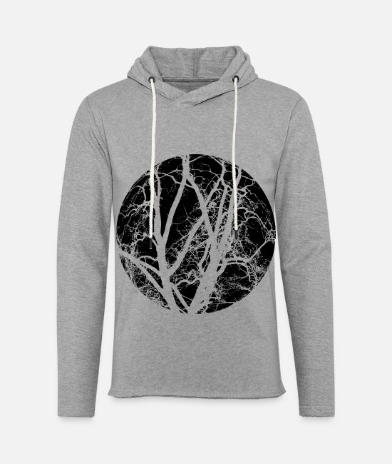 AST Hoodies & Sweatshirts - Trees branches - Unisex Lightweight Terry Hoodie heather gray