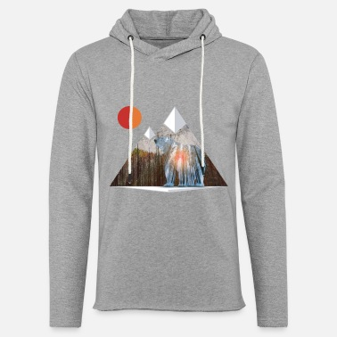Cool Bear Sun Salute in Mountain Forest - Unisex Lightweight Terry Hoodie