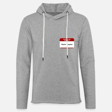 Hello Hello My Name Is Mailer Daemon - Unisex Lightweight Terry Hoodie