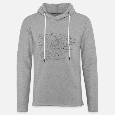 Funny Boston Accent Boston Accent Phonetic Map Funny - Unisex Lightweight Terry Hoodie