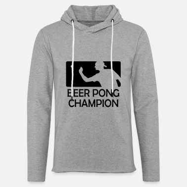 Beer Pong Beer Pong Champion Cups Table University Drinks - Unisex Lightweight Terry Hoodie