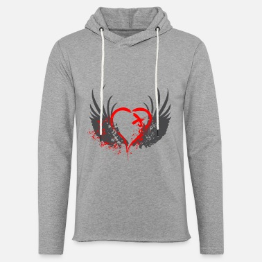Emo Blood Wings - Unisex Lightweight Terry Hoodie