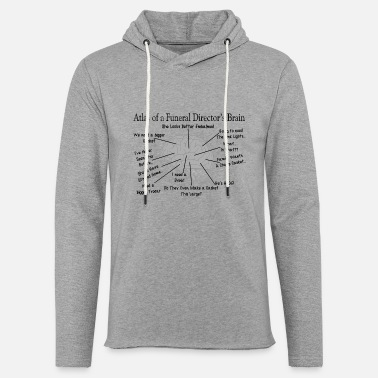 Funny Funeral Director Brain - Unisex Lightweight Terry Hoodie
