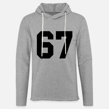 The Number 67 67 - Unisex Lightweight Terry Hoodie