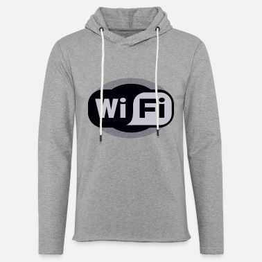 Vague Wide Open WiFi (More Color Remix) - Unisex Lightweight Terry Hoodie