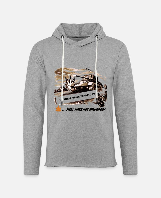 Infantry Hoodies & Sweatshirts - Drive To Victory WW2 Attack - Unisex Lightweight Terry Hoodie heather gray
